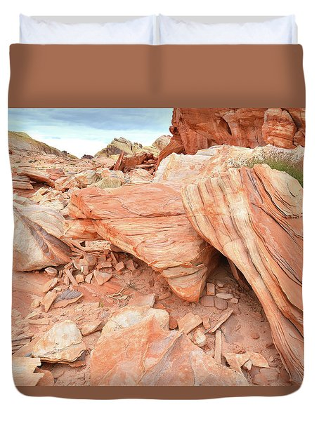 Duvet Cover featuring the photograph Cove Of Sandstone Shapes In Valley Of Fire by Ray Mathis
