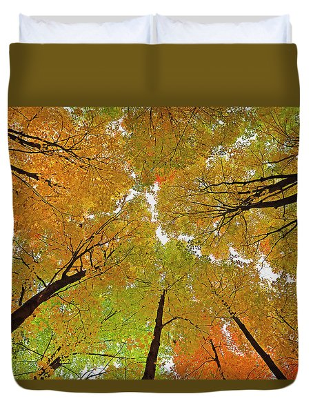 Duvet Cover featuring the photograph Cover Up by Tony Beck