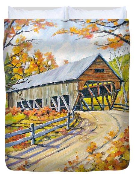 Covered  Bridge 2 Duvet Cover by Richard T Pranke