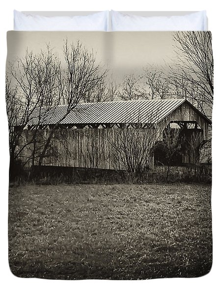Covered Bridge In Upstate New York Duvet Cover by Bill Cannon
