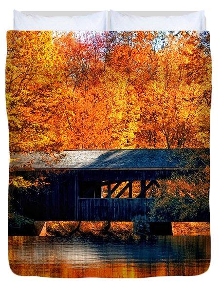 Covered Bridge Duvet Cover by Joann Vitali