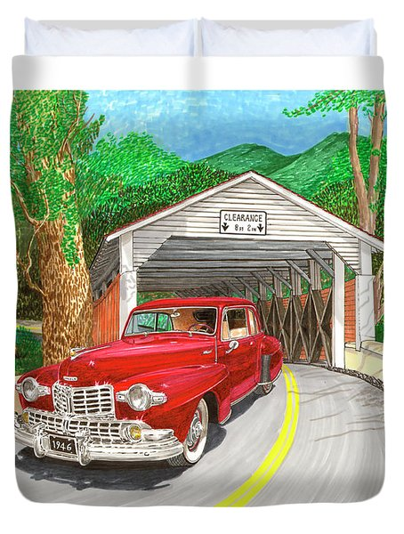 Covered Bridge Lincoln Duvet Cover by Jack Pumphrey