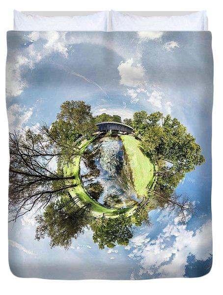 Duvet Cover featuring the photograph Covered Bridge by Randy Scherkenbach