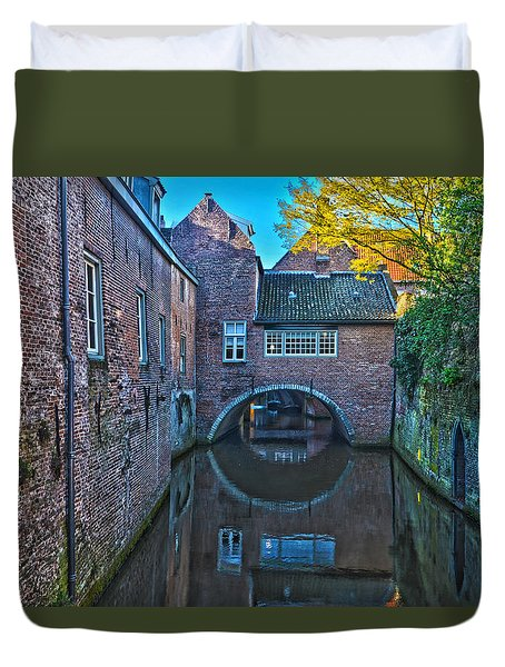 Covered Canal In Den Bosch Duvet Cover