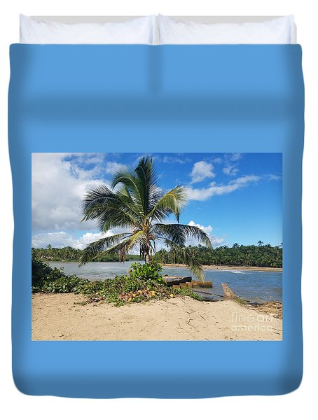 Covered Palm Beach Duvet Cover