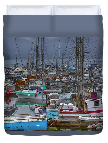 Cow Bay Commercial Fishing Boats Duvet Cover