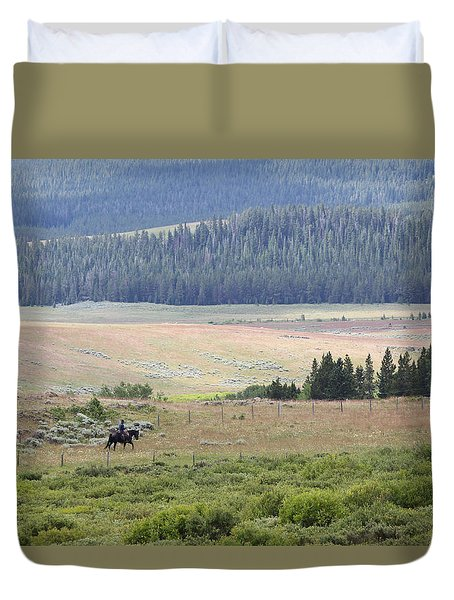 Cow Camp View Duvet Cover