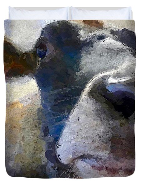 Cow Face Close Up Duvet Cover