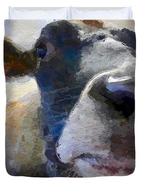 Cow Face Close Up Duvet Cover