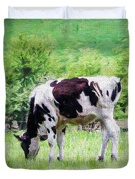 Cow Grazing Duvet Cover