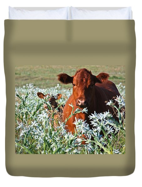 Cow Hide Duvet Cover by Mark Alder