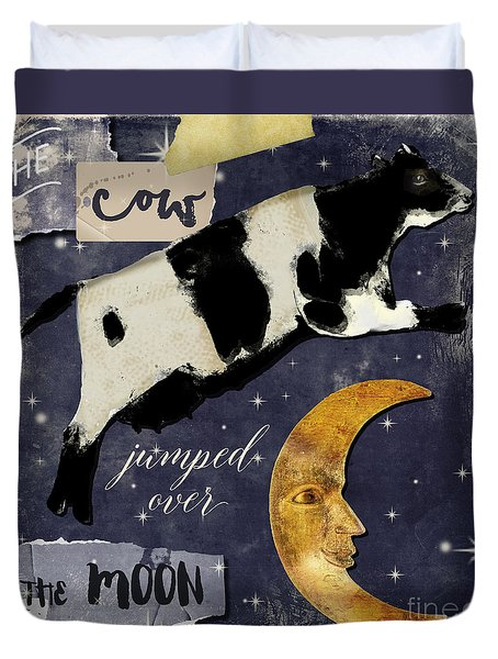 Cow Jumped Over The Moon Duvet Cover