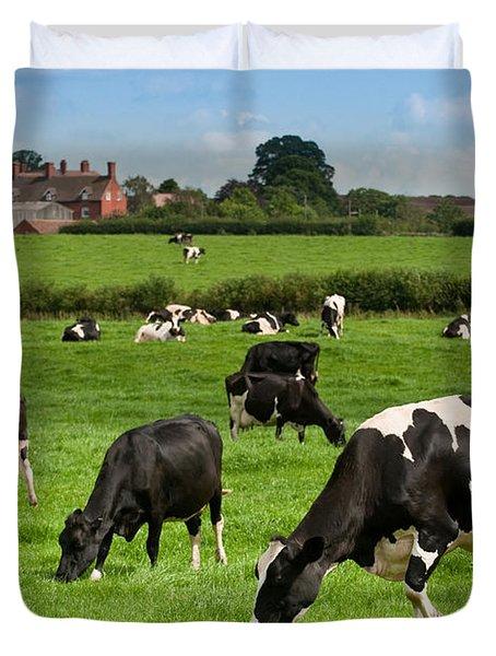 Cow Landscape Duvet Cover by Amanda Elwell