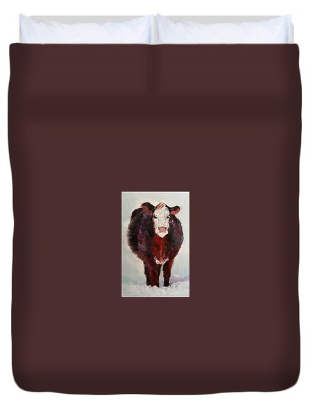 Cow Painting  Duvet Cover by Michele Carter
