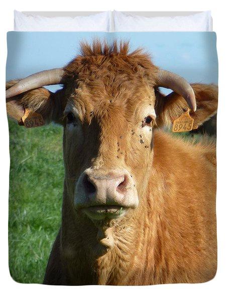 Cow Portrait Duvet Cover