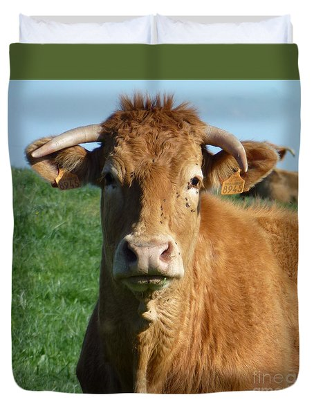 Cow Portrait Duvet Cover