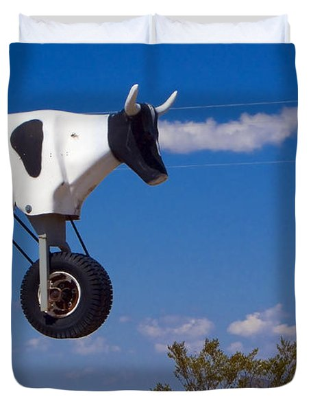 Cow Power Duvet Cover by Skip Hunt