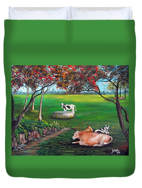 Cow Tales Duvet Cover