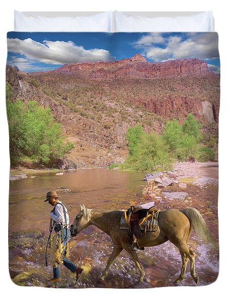 Cowboy And Horse Duvet Cover
