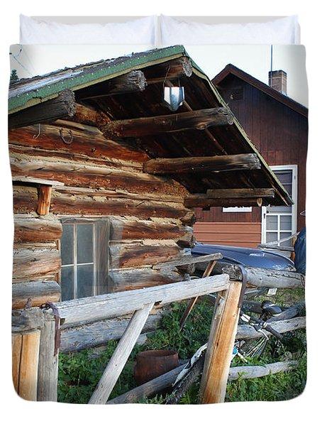 Cowboy Cabin Duvet Cover