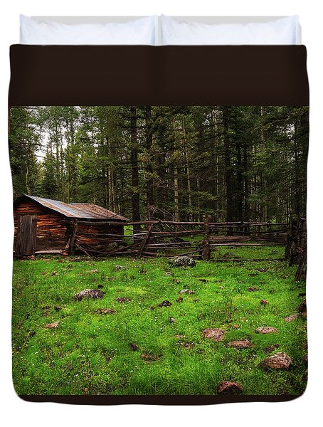 Cowboy Camp Duvet Cover