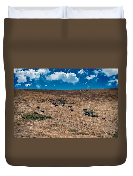 Cowboy Country Duvet Cover by Patrick Boening