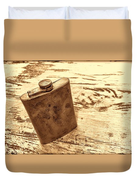 Cowboy Energy Drink Duvet Cover by American West Legend By Olivier Le Queinec