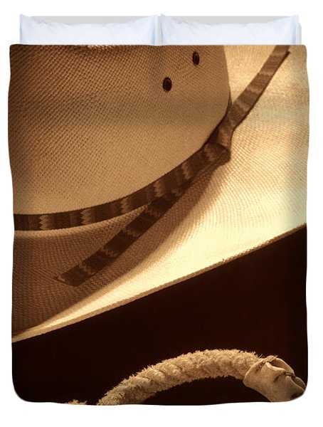 Cowboy Hat And Lasso Duvet Cover