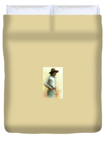 Cowboy In Thought Duvet Cover