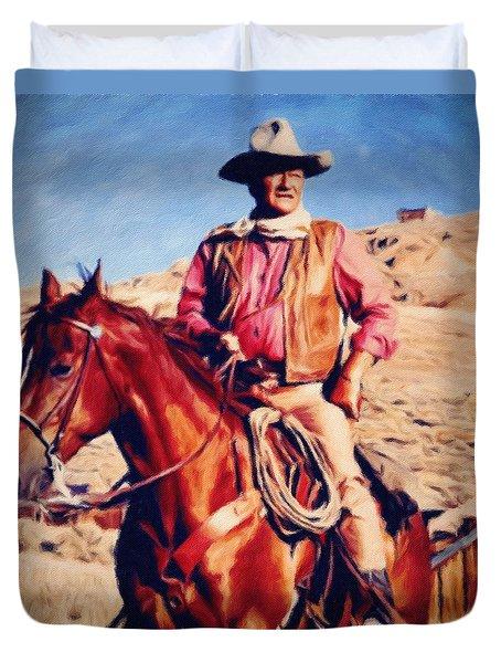 Cowboy John Wayne Duvet Cover