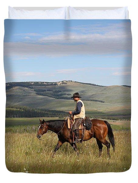 Cowboy Landscapes Duvet Cover