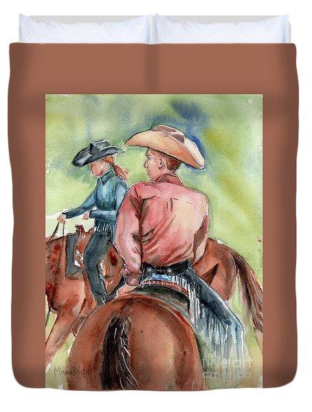 Cowboy, Looking Back Duvet Cover