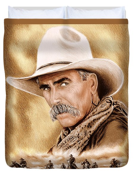Cowboy Sepia Edit Duvet Cover