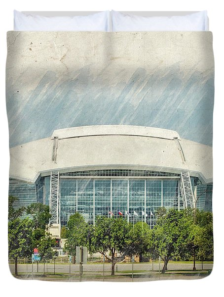 Cowboys Stadium Duvet Cover by Ricky Barnard