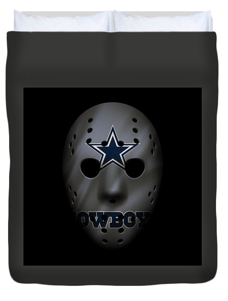 Cowboys War Mask 2 Duvet Cover