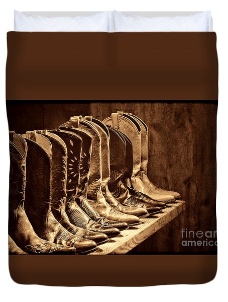 Cowgirl Boots Collection Duvet Cover by American West Legend By Olivier Le Queinec
