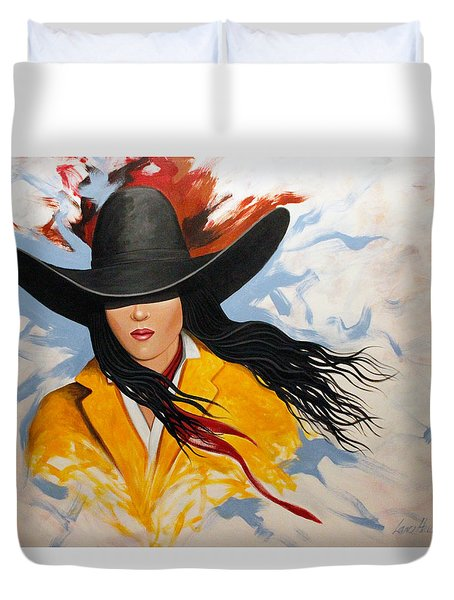 Cowgirl Colors #3 Duvet Cover by Lance Headlee