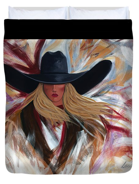 Cowgirl Colors Duvet Cover by Lance Headlee