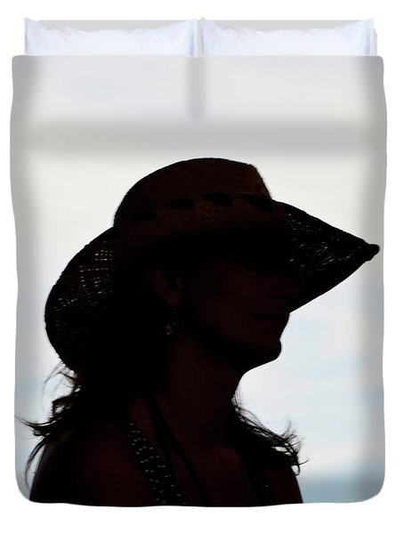 Cowgirl In The Sky Duvet Cover