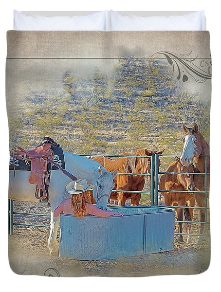 Cowgirl Spa 5p Of 6 Duvet Cover