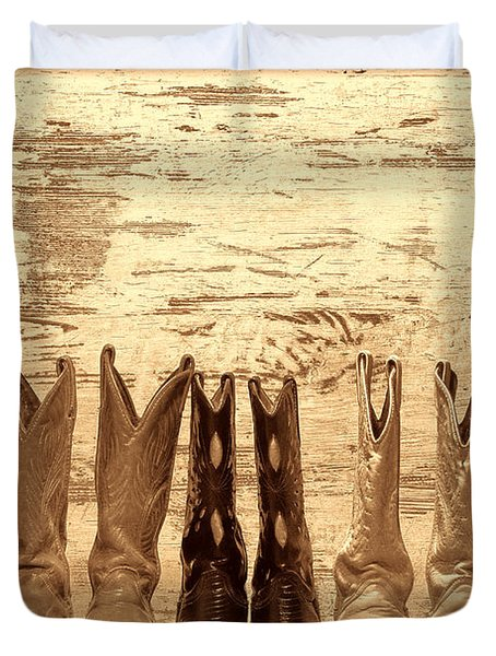 Cowgirls Night Out Duvet Cover