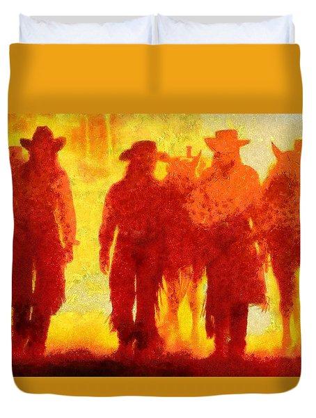 Cowpeople Duvet Cover
