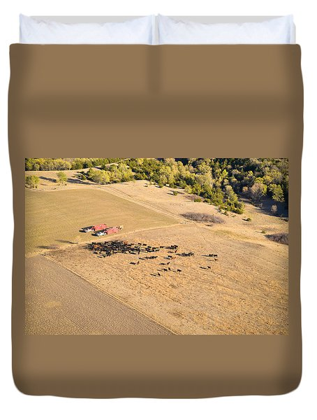Cows And Trucks Duvet Cover