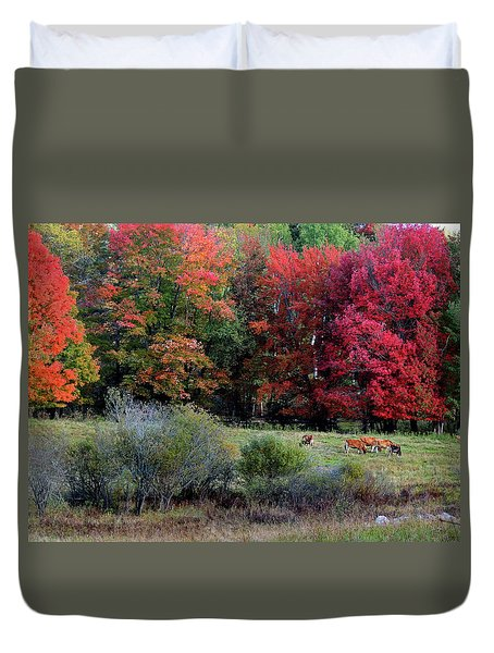 Cows In The Autumn Duvet Cover