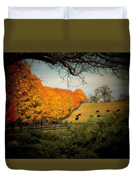 Cows In The Meadow Duvet Cover by Joyce Kimble Smith