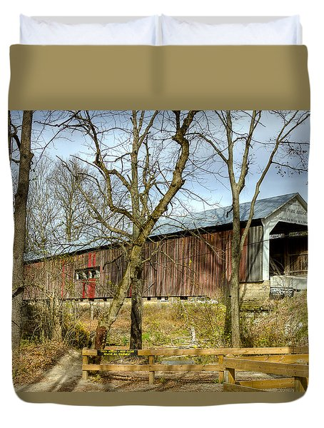 Cox Ford Covered Bridge Duvet Cover