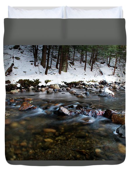 Coxing Kill In December #1 Duvet Cover by Jeff Severson