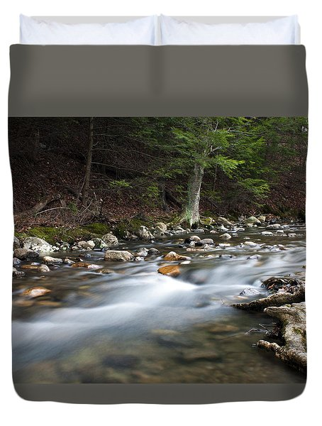 Coxing Kill In February #1 Duvet Cover by Jeff Severson