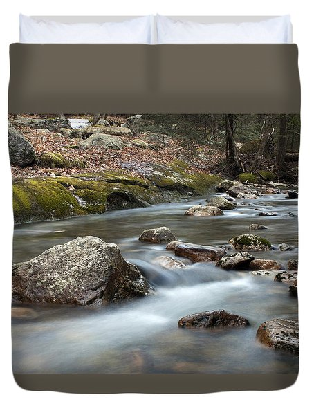 Coxing Kill In February #2 Duvet Cover by Jeff Severson