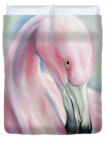 Coy Flamingo Duvet Cover